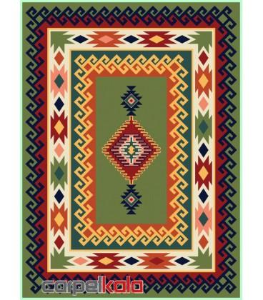 فرش قشقایی یشمی کد 6016