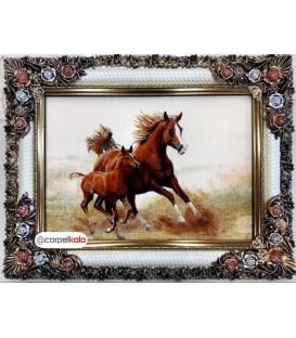 تابلو فرش طرح کره اسب