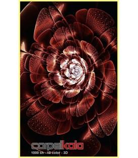 طرح گل قرمز